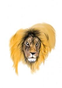ライオン色塗り